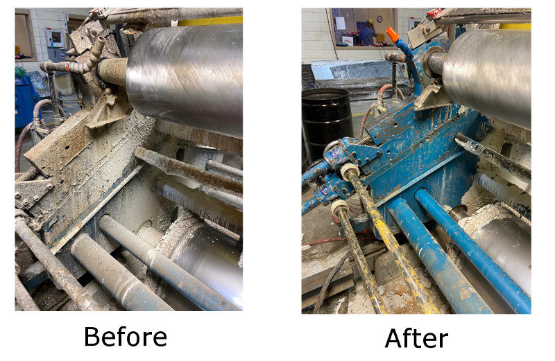 Before & After Image Dry Ice Blasting